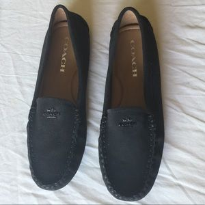 Coach suede loafers 6.5